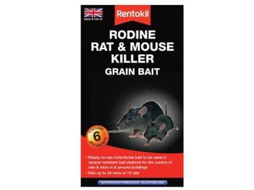 Rodine Rat & Mouse Killer Grain Bait (Sachets 6)